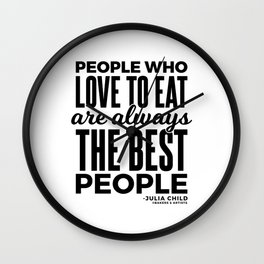 The Best People (Black) Wall Clock