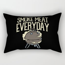 Smoke Meat Every Day Barbecue BBQ Grill Smoker Rectangular Pillow