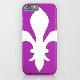 Fleur de Lis (White & Purple) iPhone Case