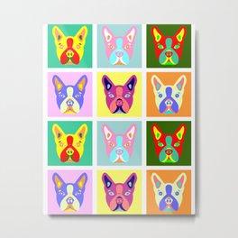 Boston Terrier Pop Art Metal Print