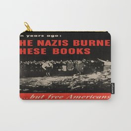 Vintage poster - Burned Books Carry-All Pouch