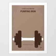 No707 My Pumping Iron minimal movie poster Art Print