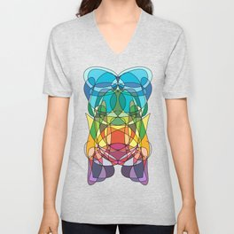 Abstract Curves #4 - Butter Fly Unisex V-Neck