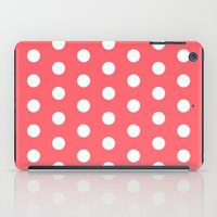 polka dot iPad Cases featuring Polka Dot Coral by Beautiful Homes