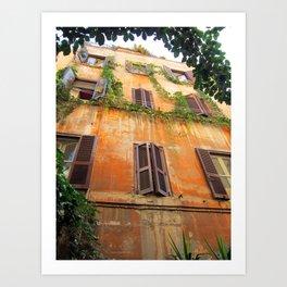 House in Trastevere Art Print