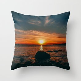 Sunset in Stanley Park Throw Pillow