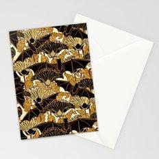 Art Nouveau Bats and Flowers Stationery Cards