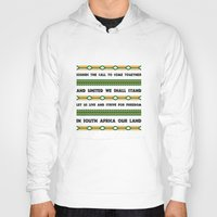 south africa Hoodies featuring South Africa Anthem by Star Icons Rugby