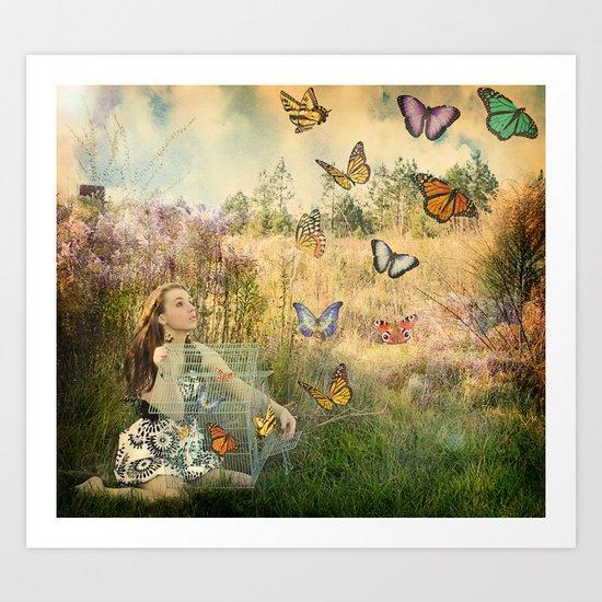 Release of the butterflies Art Print