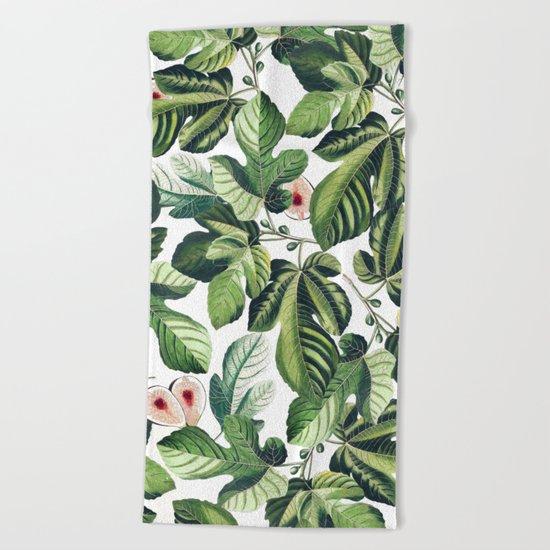 Fig Garden #society6 #decor #buyart Beach Towel