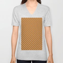 Dots (White/Bronze) Unisex V-Neck
