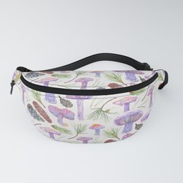 Wood Blewits and Pine - Neutral Pattern Fanny Pack