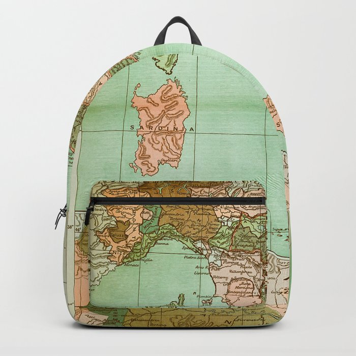 Italy in 1490 - Vintage Map Series Backpack