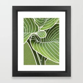 Hosta Detail Framed Art Print