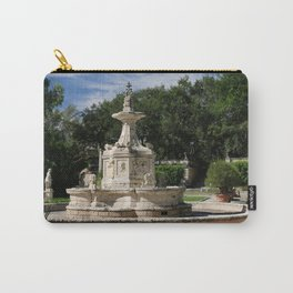 Garden Fountain Villa Vizcaya Carry-All Pouch