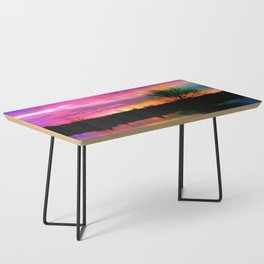 Watercolor January Texas Sunrise Coffee Table