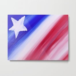 """Nearly Patriotic #6"" Painting Metal Print"