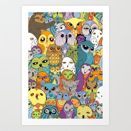 A Colorful Parliament in Session Art Print