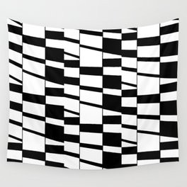 Slanting Rectangles - Black and White Graphic Art by Menega Sabidussi Wall Tapestry