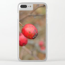 Wild berries in the autumn grow in the forest Clear iPhone Case