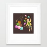 macarons Framed Art Prints featuring Macarons by Lilian Darmono