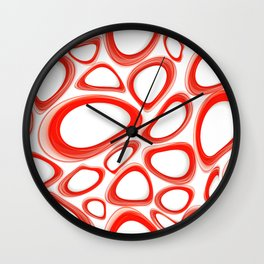 Red Cicles 02 Wall Clock