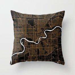 Edmonton | Alberta | Canada - Minimalist City Map Throw Pillow