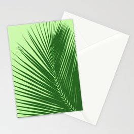 Large Palm Leaf, Emerald and Lime Green Stationery Cards