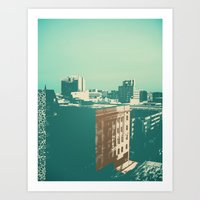 portland Art Prints featuring portland by Mike Hanes