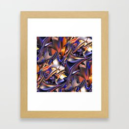 Iridescent Copper Metallic Patina Abstract Framed Art Print