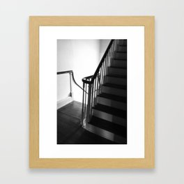 Staircase at Duportail House Framed Art Print