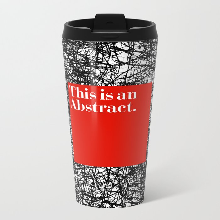 ABSTRACT CERTIFIED Metal Travel Mug
