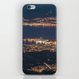 Breathtaking landscape at evening iPhone Skin