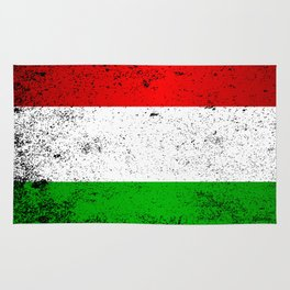 Flag of Hungary Grunge Rug