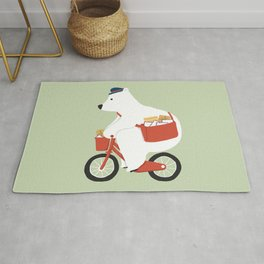 Polar bear postal express Rug