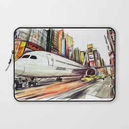 Flight in Times Square Laptop Sleeve