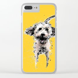 Labradoodle Larking! Clear iPhone Case