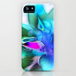 Lily in Blue iPhone Case