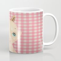 devil Mugs featuring  Devil  by Vintage  Cuteness