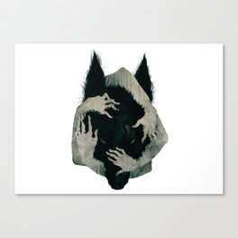 Wolf dark Canvas Print