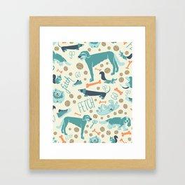 Park Dogs Framed Art Print