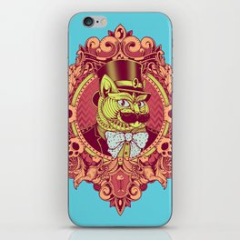 Hipster Mustache Cat iPhone Skin