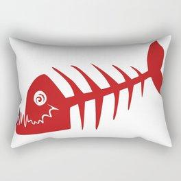 Pirate Bad Fish red- pezcado Rectangular Pillow
