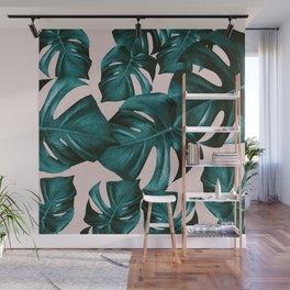 Monstera Leaves Pattern #4 #tropical #decor #art #society6 Wall Mural