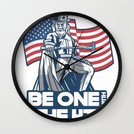 Uncle Sam Cartoon Wall Clock