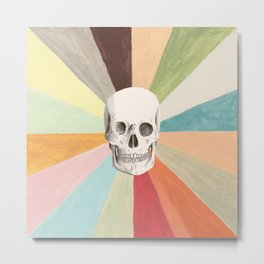 Skull is Cool Metal Print