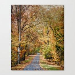 Autumn Passage 2 - Fall Landscape Scene Canvas Print