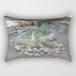 road trip, cemetery & roadside memorial Rectangular Pillow