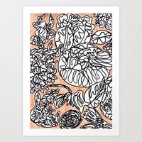 Floral Scribbles Art Print