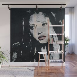 Green eyes, red lips Wall Mural